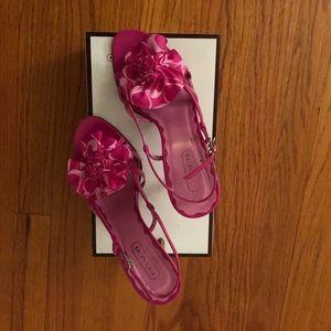Coach pink heel sandals
